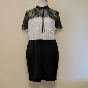 White & Black lace dress XXL plus size